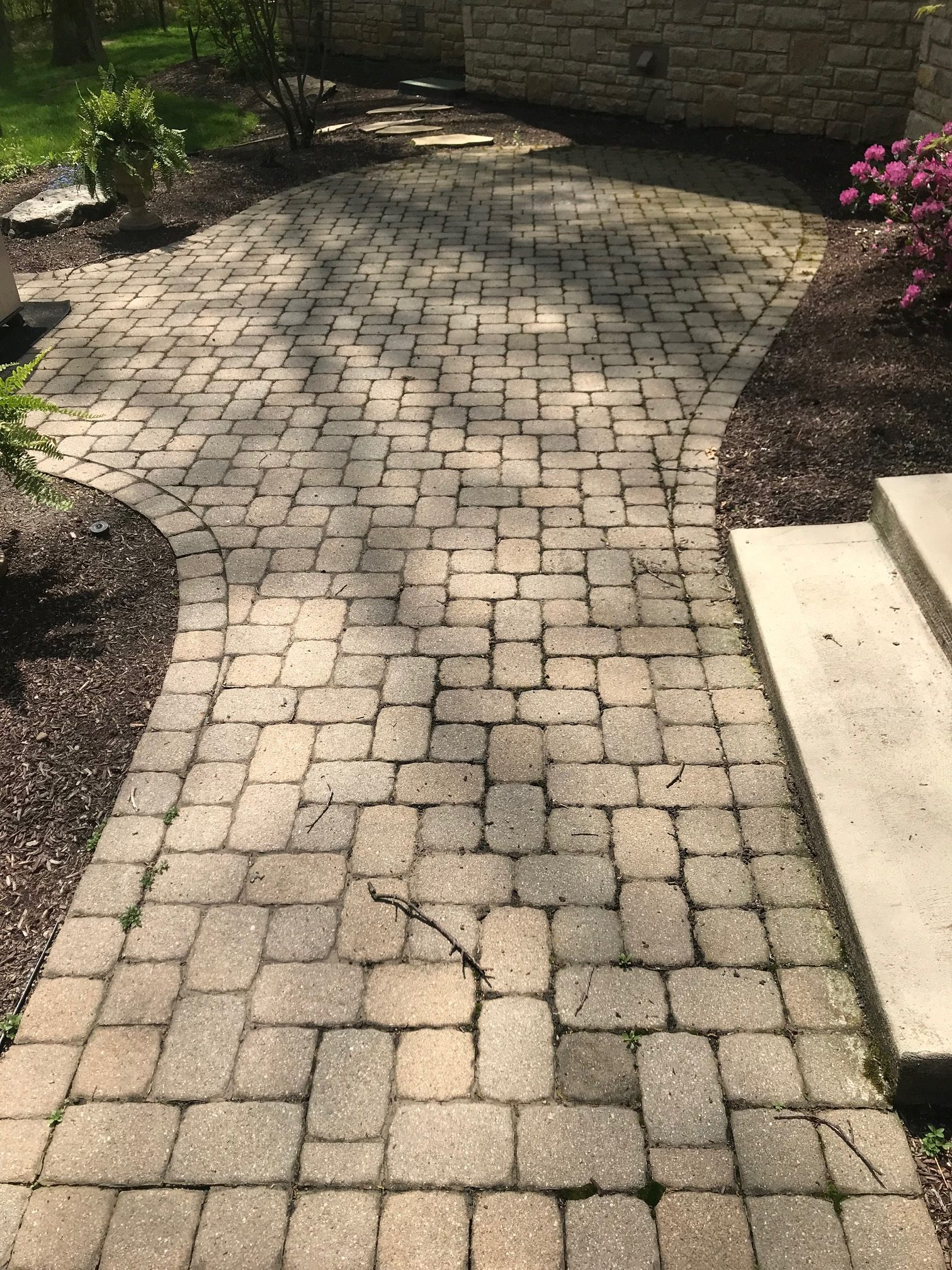 Before Patio Paver Cleaning